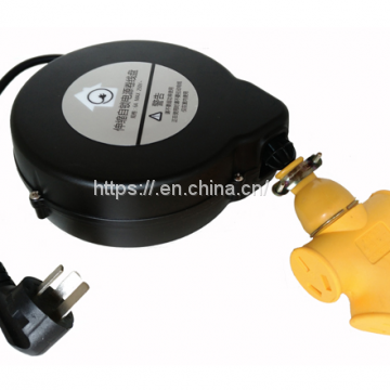 extension power cord retractable cable reel with plug and socket