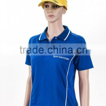 sublimation printing own logo two color polo shirt