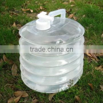 hiking camping plastic outdoor folding bucket