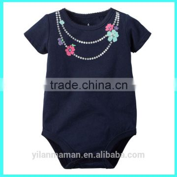 2016 infant short sleeve clothing necklace baby short sleeve babysuit baby rompers newborn baby