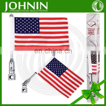 Promotional No MOQ 75D Polyester Custom Flags for Motorcycle