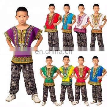 Childs Kids African Traditional Dashiki Tribal Festival Hippie Shirt Top Traditional-Kids-Dashiki-Boho-Dress-Blouse S M L SIZE