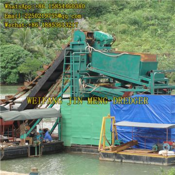 100 M3/hr River Dredging Machine Transportable Bucket Chain Gold Dredger