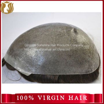 Super Thin Skin Wholesale Human Hair Men Toupee