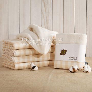 Organic cotton bath towel, 380gsm organic cotton untwisted yarn, fluffy, soft and super absorbent