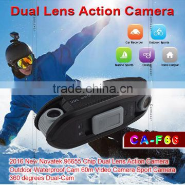 2016 New style black box dish network video camera outdoor camrea dual lens action camera dvr