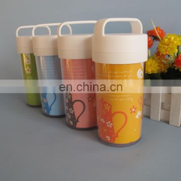 380ml portable plastic drinking cup with handle