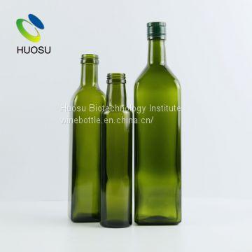 25cl 50cl 70cl 75cl square dark green dorica olive oil glass bottle holder  wholesale