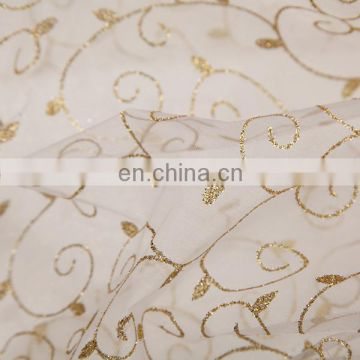 2015 Best Selling Hot Chinese Products Garments Material Spraying Organza Linen Fabric