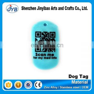 factory cheap price QR code id pet dog tag