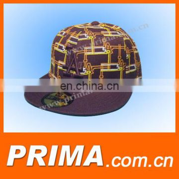 fashion custom design logo caps and hats with flat visor