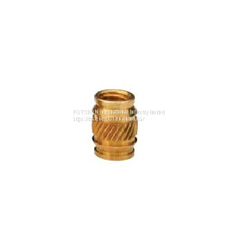 ISB-256/ISB-440/ISB-632/ISB-832/ISB-032/ISB-0420 Brass Knurled Inserts Nuts Injection Molding Brass Knurled Thread Nuts