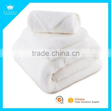 100% Cotton Terry Super Soft Wholesale White Used Hotel Bath Towels with Customized LOGO