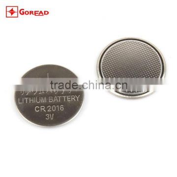 CR2016 lithium battery 3V 75maH LiMnO2 button battery