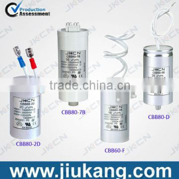 high quality/best price of CBB80 roshe run 3uf capacitor,12uf 250v motor capacitor supply from China