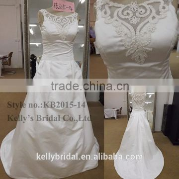 new arrival see through neckline make of import satin islamic ...