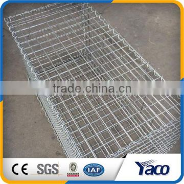 Bright surface HDG beautiful hot dip galvanized welded gabion cage