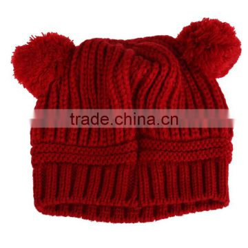 Warm Children Knitting Woolen Hat Comforatble Winter Kids Boy Girl Cap