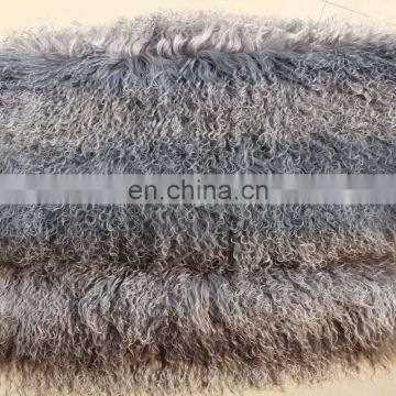 "Genuine Curly Mongolian Fur Large Tibetan Sheep Skin 3"" Pile Length curly texture"