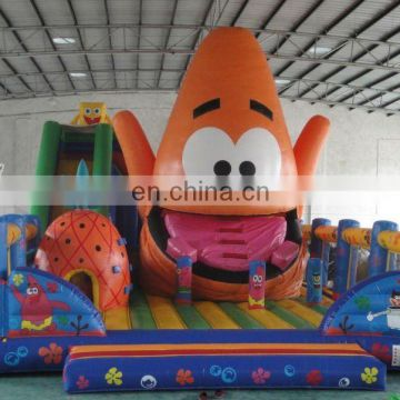 giant sponge bob inflatable castle