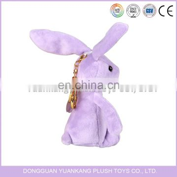 Custom mini lovely plush rabbit stuffed animal keychain
