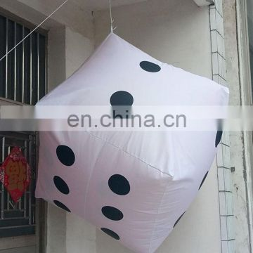 Por Hanging Giant Inflatable Dice For Decoration