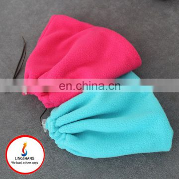 Outdoor cycling sport thick warm windproof fleece multifunctional scarf hat
