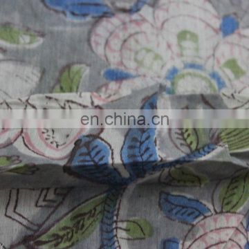 Hand Block Print Fabric Craft Cotton Voile Indian fabric By The Yard 5