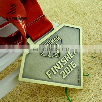 Factory direct custom superhero souvenir metal superman medal