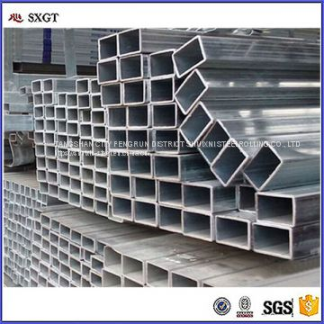pre-galvanized square steel pipe/tube for construction High quality