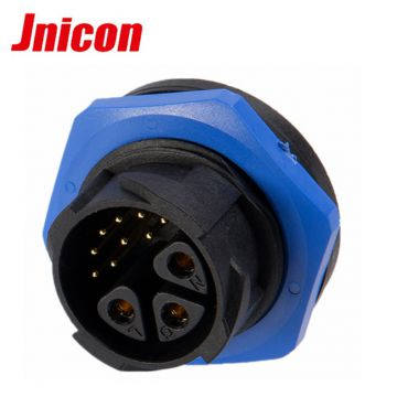 M25 automotive electrical connector types cable connectorIP67 female m25 plastic 3+9pin jack plug electric cable connect