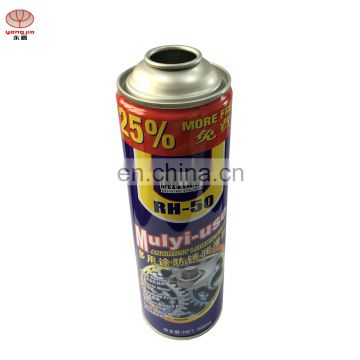 65x145mm straight body aerosol can for lubricating