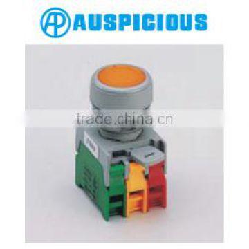 green yellow red Pushbutton Momentary Press Emergency Stop Switch Set USA 3 pcs