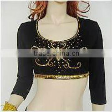SWEGAL sexy belly dance tops practice tops costume long sleeve SGBDB13042