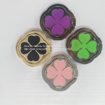 New !!!Four-leaf Clovers Ring Holder For Cell Phone