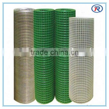 high quality best price 1/2 and 1 inch green pvc coated welded wire mesh/plastic welded mesh