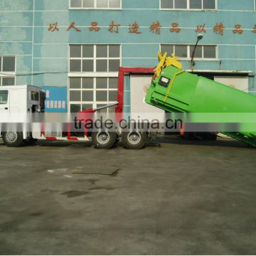 QINGZHUAN 25T SINOTRUK 6X4 hook lift garbage truck for sale (manufacturer)