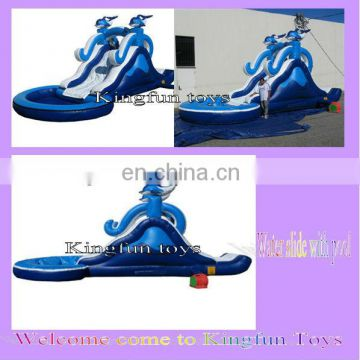 Dolphin water slide for kids
