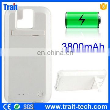 3800mah Flip Stand Charger External Battery Case for HTC One M8
