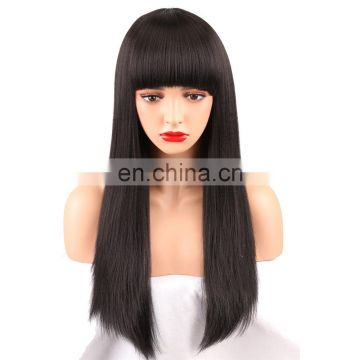 Wholesale hair preplucked straight wave human hair lace front wig