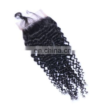 Remy hair grade curly hair style lace closure virgin malaysian hair fast delivery