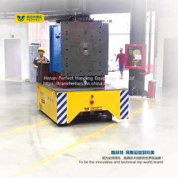 steel material handling trackless flat carts on cement floor