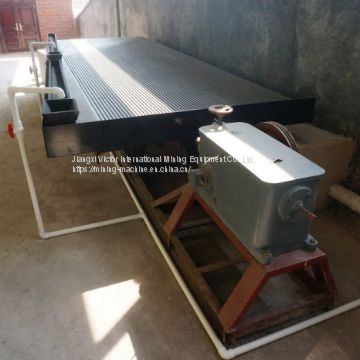 Tungsten ore earthquake shaking concentration table