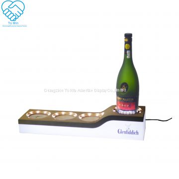 wooden acrylic wine /ciroc bottle holder for bar display set