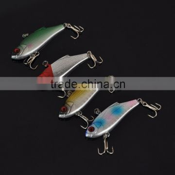 4pcs 4.5g 5cm VIB Vibration Minow Fishing Lure Hard Bait with 2 Treble Hooks Fishing Tackle