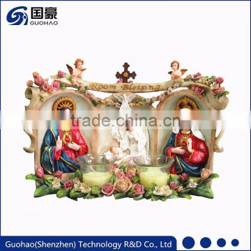 Catholic religious blessing room statue Church votive candle holders