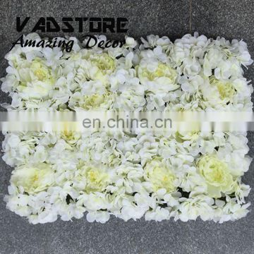 ARTIFICIAL FLOWER WALL WITH WHITE HYDRANGEA AND PEONY FOR WEDDING STAGE FLOWER BACKDROP