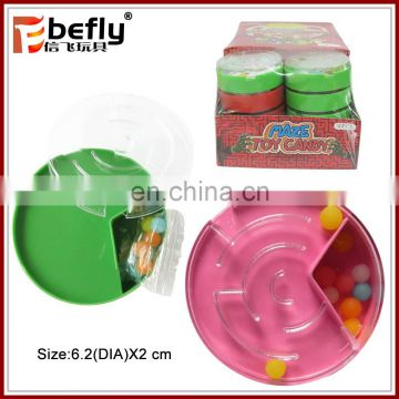 Shantou very cheap intelligent maze candy toy with candy