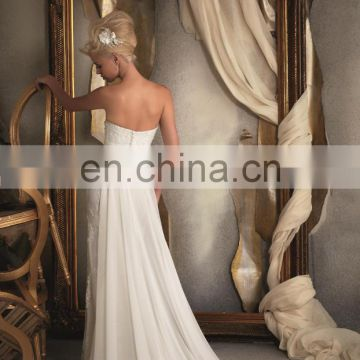 Glorious strapless gown with sashing 2016