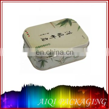 Rectangular metal tin box for puzzle game set